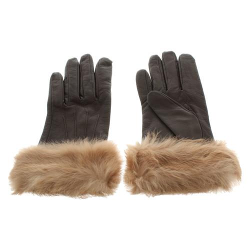 confrontare il prezzo massimo stile aspetto elegante Bogner Guanti in pelle con pelliccia - Second hand Bogner ...