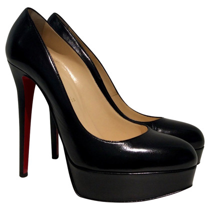 Christian Louboutin Plateau-Pumps in Schwarz