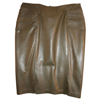 Versace Leather skirt