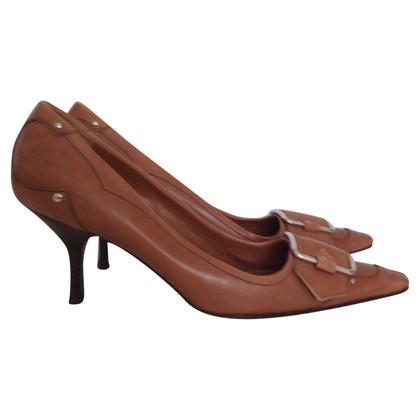 Prada camel pointed heels