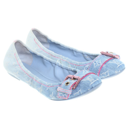 Louis Vuitton Ballerinas in Denim-Optik