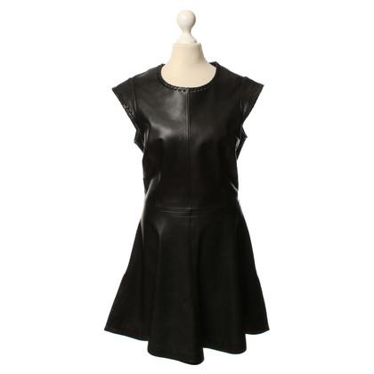 Chloé Zwarte leren jurk