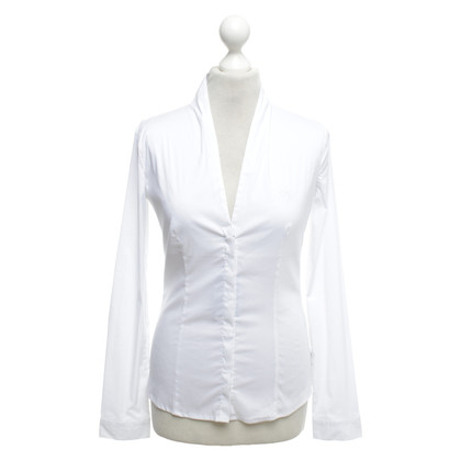Armani Jeans Blouse met overhemd in wit