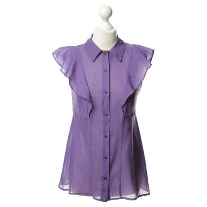 Just Cavalli Bluse in Violett