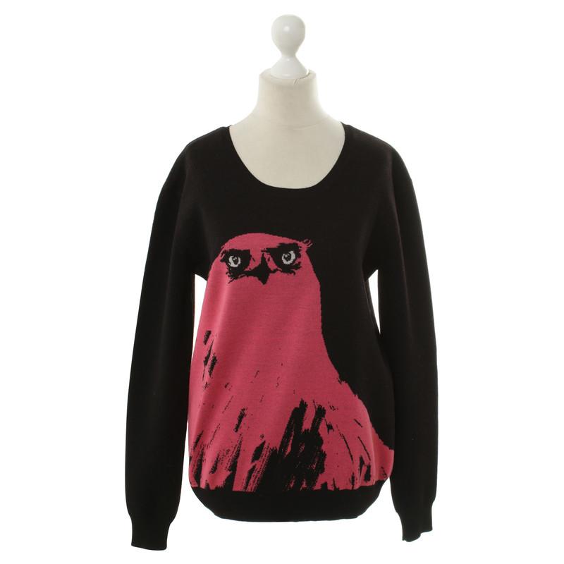 Alexander McQueen Zwarte sweater met animal-print