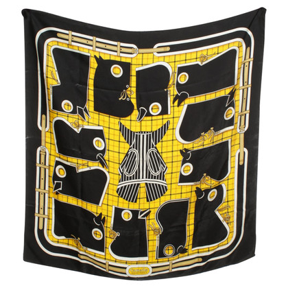 Hermès Silk scarf yellow/black
