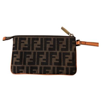 Fendi clutch with logo pattern