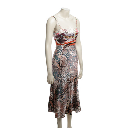 Just Cavalli Silk dress with pattern