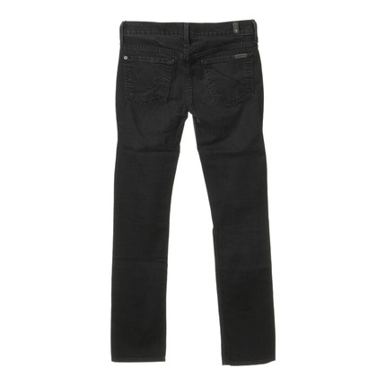 "7 For All Mankind Jeans ""Straight Leg"" in Schwarz"
