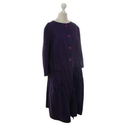 Hache Coat dress in purple