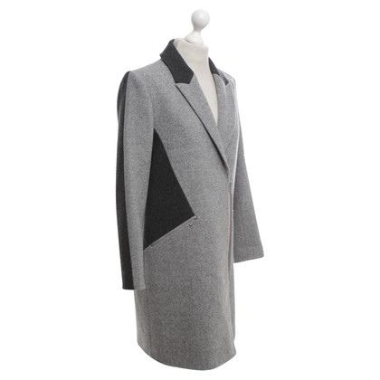 Karl Lagerfeld Wollen jas in grijs