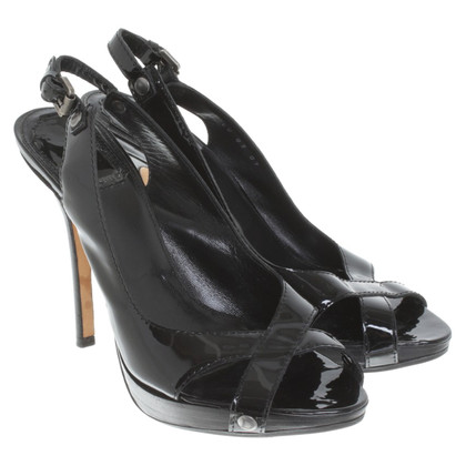 Christian Dior Patent leather sandals in black