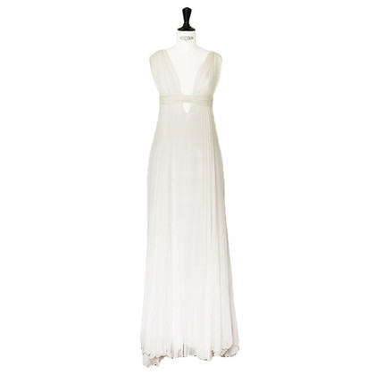 Jay Ahr White silk wedding dress