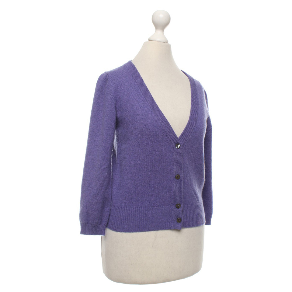 Bruno Manetti Cashmere cardigan in lilac - Buy Second hand Bruno ...