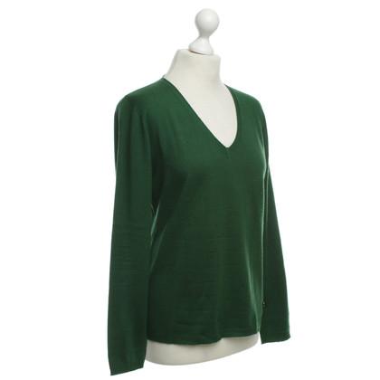 Escada Fine knit sweater in green