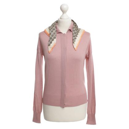 Prada Roze vest met zijden doek