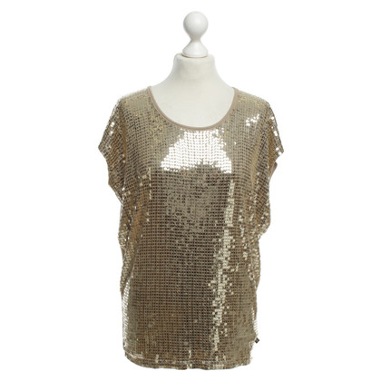 Michael Kors Gold sequin top