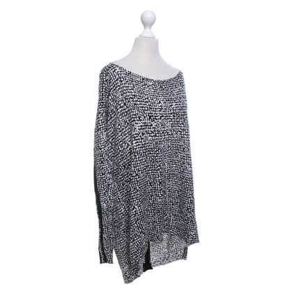 Patrizia Pepe Sweater in zwart / wit