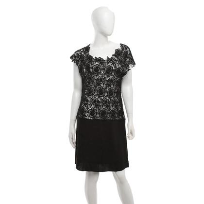 P.A.R.O.S.H. Lace dress in black