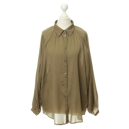 Escada Silk blouse in khaki