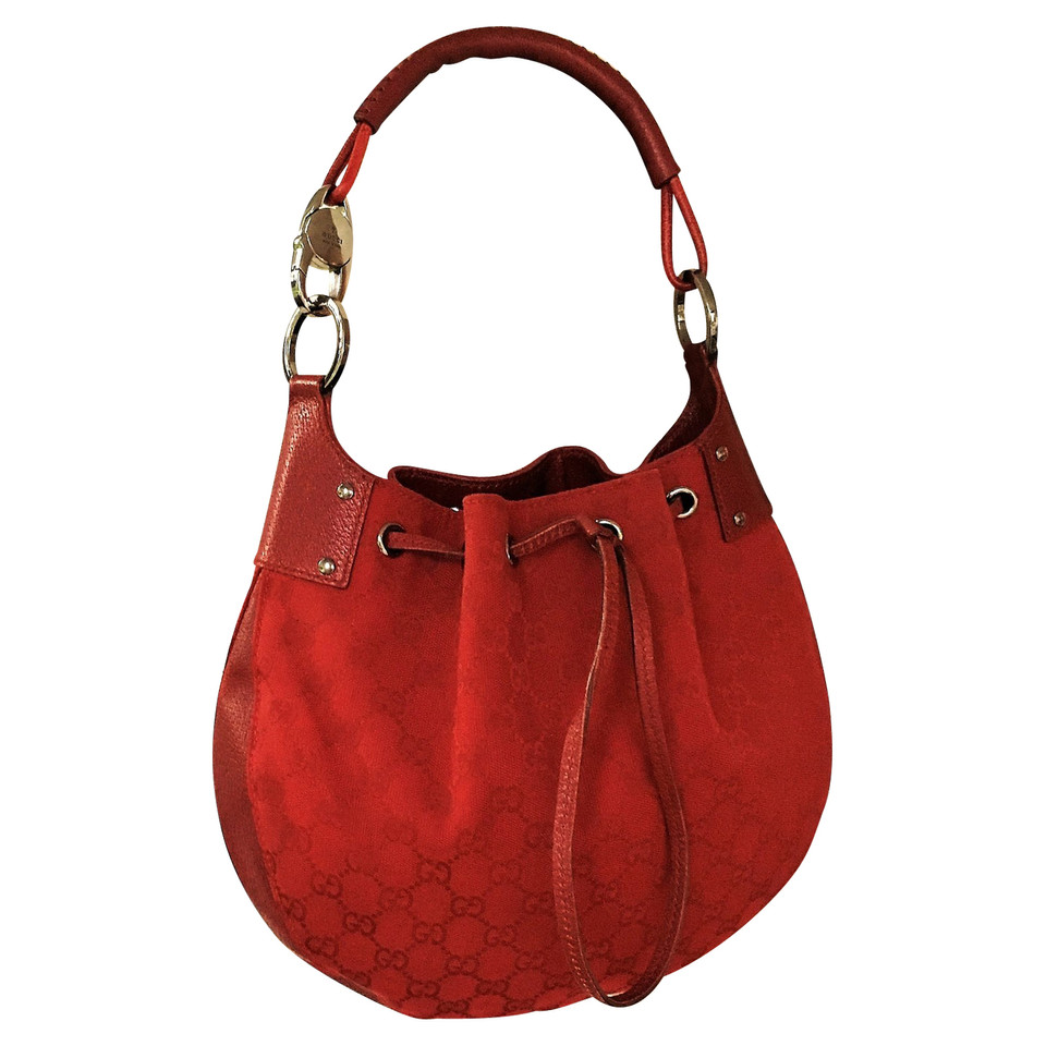 gucci hobo bag in rot second hand gucci hobo bag in rot. Black Bedroom Furniture Sets. Home Design Ideas