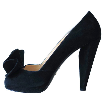 Prada Black suede pumps