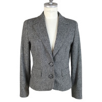 Max & Co Max & co wool tweed black gray blazer