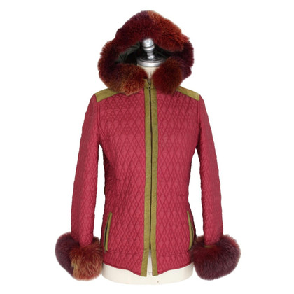 Alberta Ferretti Red quilted jacket