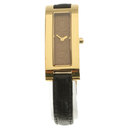 DKNY Wristwatch in gold / black