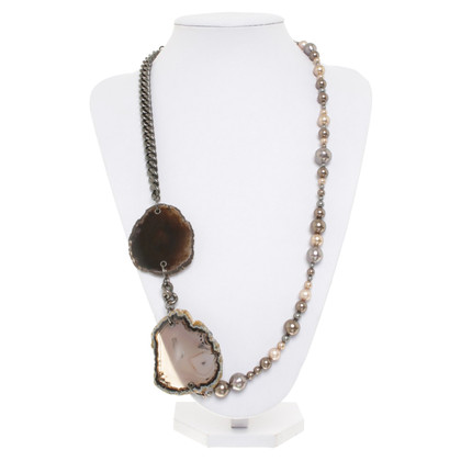 Hugo Boss Necklace with agate stone