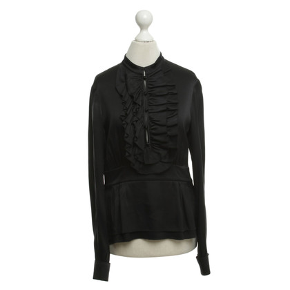 Tory Burch Zijden blouse in zwart