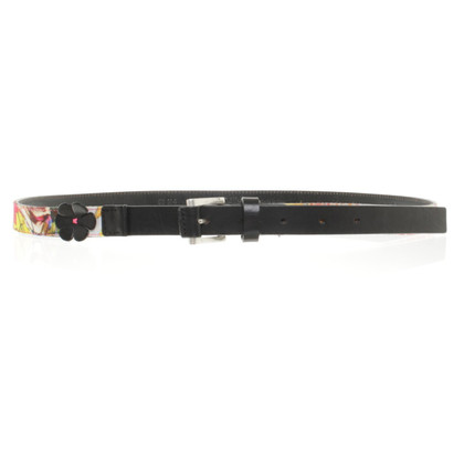 Marc Cain Leather belt with print