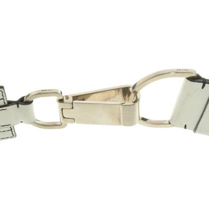 Prada Cintura in pelle bianca