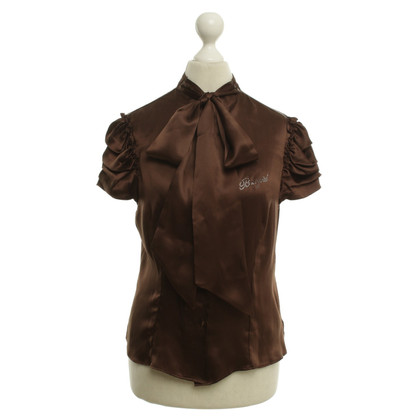 Blumarine Silk blouse in brown