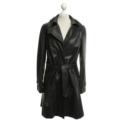 Aigner Leather coat in black