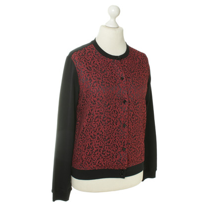 Carven Sweatshirt jacket with lace trim
