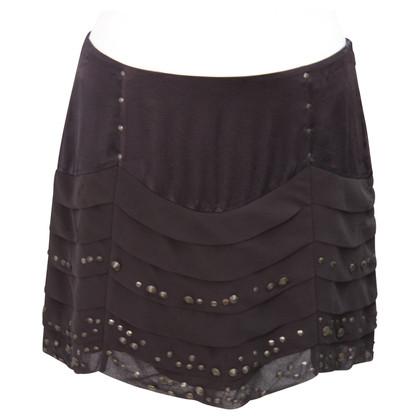 Karen Millen Silk skirt in brown