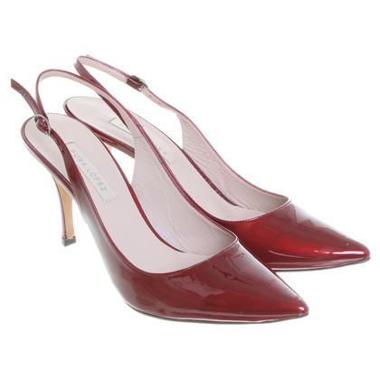 Pura Lopez Slingbacks in Bordeaux