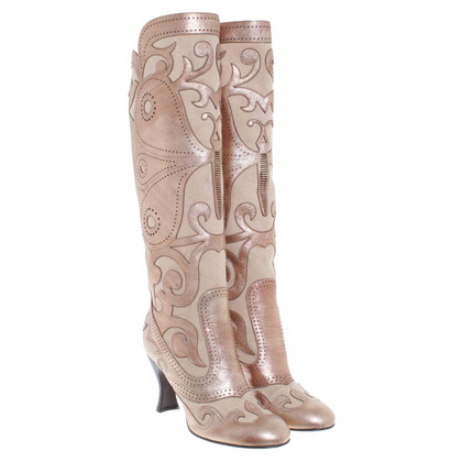 Anna Sui Boots with leather ornaments