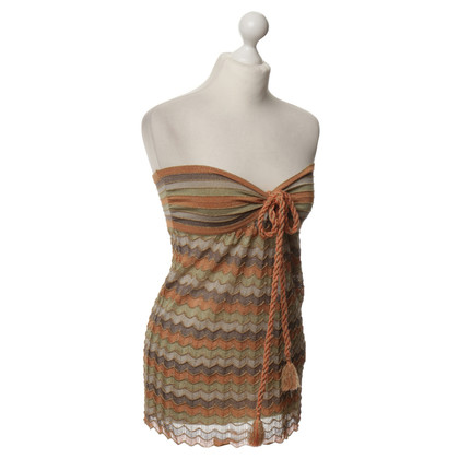 Missoni Bandeau-top in breien