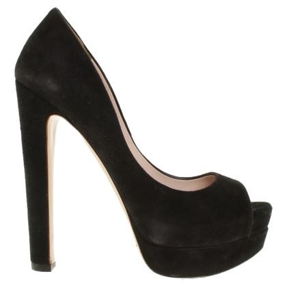 Miu Miu Peep-toes in black