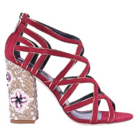 Dolce & Gabbana RUNWAY mosaic pumps red