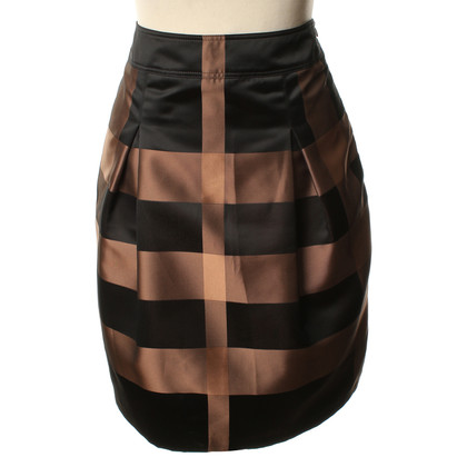 Burberry skirt with checked pattern in brown/black