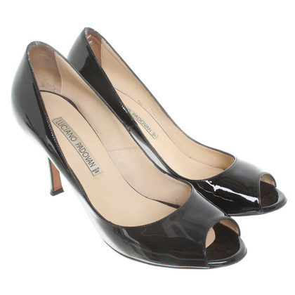 Luciano Padovan Peeptoes patent leather