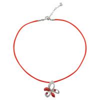 Swarovski Asymmetrical flower necklace