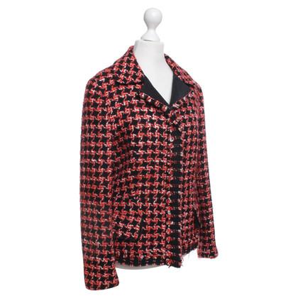 Prada Jacke in Rot/Schwarz