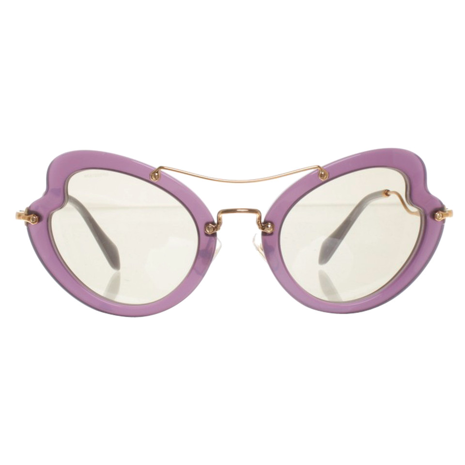 miu miu sonnenbrille in violett second hand miu miu. Black Bedroom Furniture Sets. Home Design Ideas