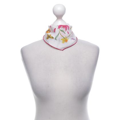 Gucci Zijden sjaal met een bloemmotief