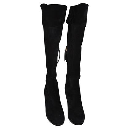 Miu Miu Stivali in camoscio nero