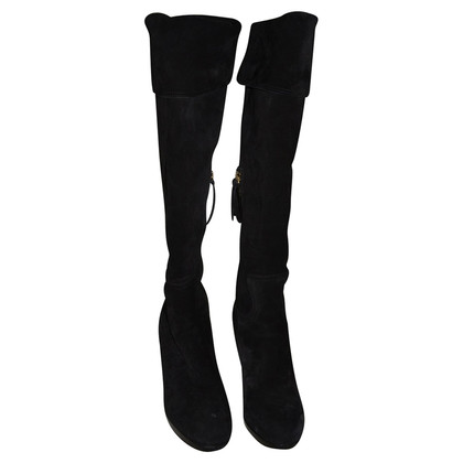 Miu Miu Black Suede boots